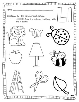 Kindergarten Letter L Writing Practice Worksheet Printable ...