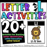 Letter L Alphabet Activities   Recognition, Formation, and Sounds