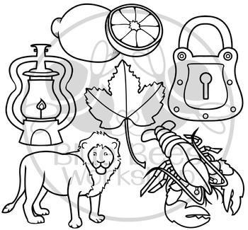 Letter L Clip Art Alphabet / Beginning Sound L