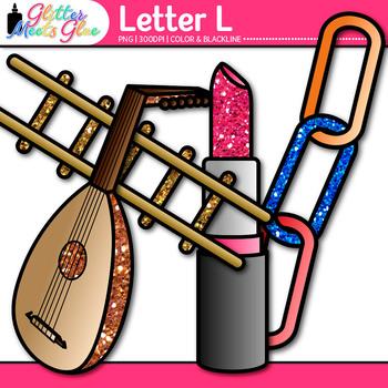 Letter L Alphabet Clip Art {Teach Phonics, Recognition, and Identification}