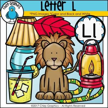 Letter L Alphabet Clip Art Set - Chirp Graphics