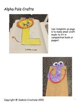 Letter L Alphabet Craft: Lenny Lion Alpha Pal