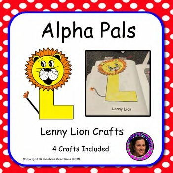 Letter L Alphabet Craft: Lenny Lion Alpha Pal