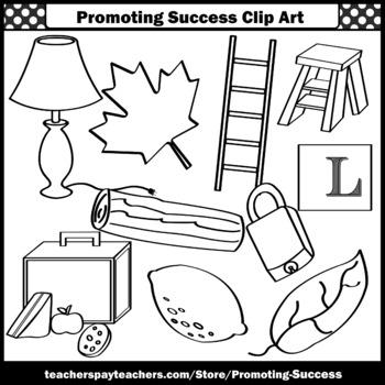 Letter L Clipart, Alphabet Clip Art, Letter Sounds SPS