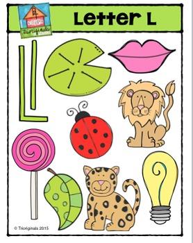 Letter L Alphabet Pictures {P4 Clips Trioriginals Digital Clip Art}