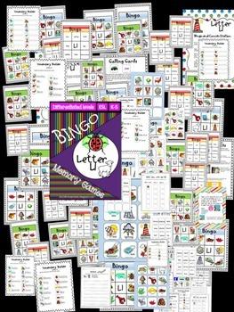 Letter L Bingo