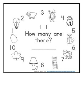 Letter L Counting Books