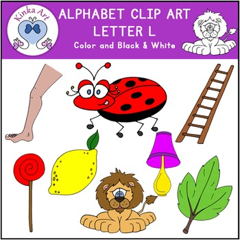 Letter L Clip Art {Beginning Sounds} Alphabet