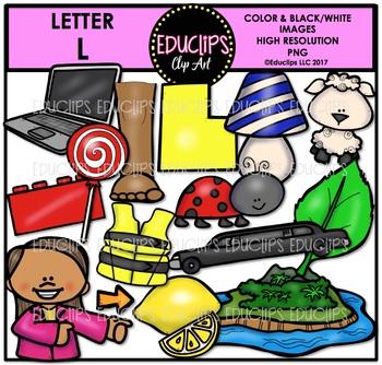 Letter L Clip Art Bundle {Educlips Clipart}