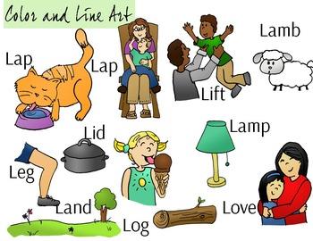 Letter L Clip Art - Color and Line Art 22 pc set