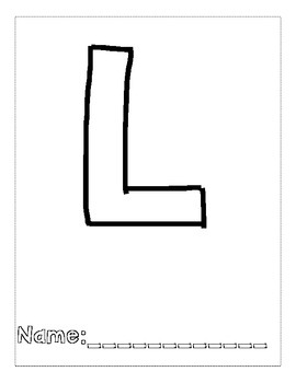 Letter L Color and Trace AlphaBook