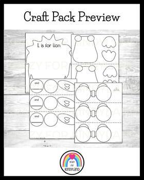 Letter L Craft:  We're Going On a Lion Hunt