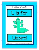 Letter L Craftivity - Lizard - Zoo Phonics Inspired - Colo