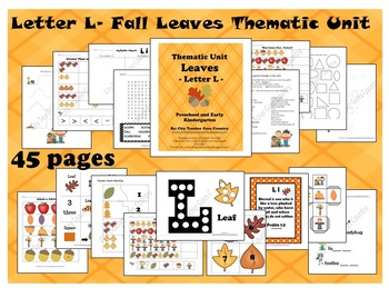 Letter L - Leaves Thematic Unit (45 pages) Autumn & Fall
