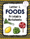 Letter L Foods Printable Worksheets