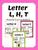 Letter L, H, T - Phoneme Practice BUNDLE - Special Education