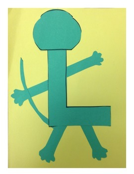 Letter L Lizard Project