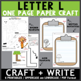 Letter L One Page Paper Crafts - Lamp and Lion
