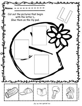 Letter L:Phonics Pack