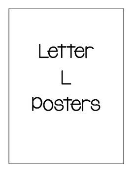 Letter L Poster Set