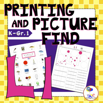 Letter Ll Printing and Picture Find Worksheets