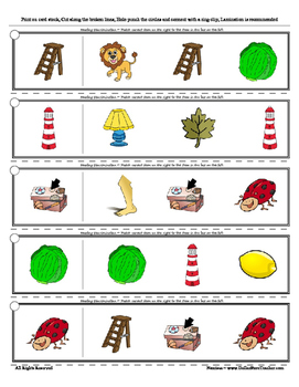 Letter L Reading Discrimination Strips for Fluency and Alphabet Recognition
