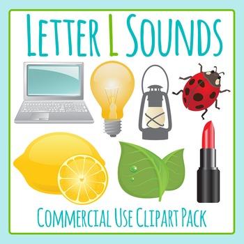 Letter L Sounds Clip Art Pack for Commercial Uses