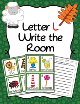Letter L Words Write The Room Activity By Pink Posy Paperie Tpt