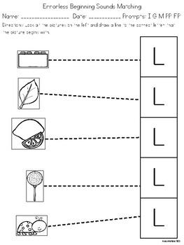 Letter L Worksheet Packet
