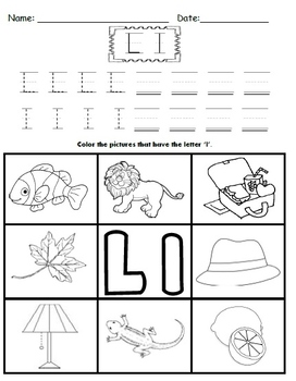 Letter L Worksheets!