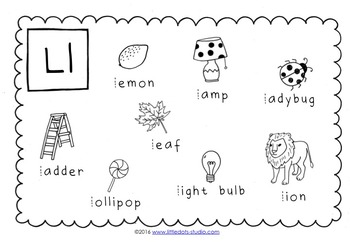 Letter L Activities and Worksheets