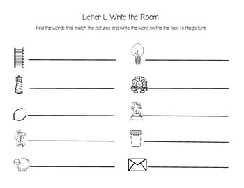 Letter L Write the Room