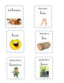 Letter L action cards