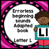 Letter L adapted book errorless learning
