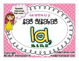 Letter L and Syllables- Spanish