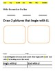 Letter L differentiated worksheets