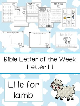 Letter L is for lamb. Bible Letter of the Week.