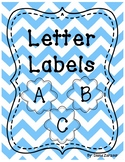 Letter Labels- For Library or Alphabet Wall (Blue)