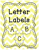 Letter Labels- For Library or Alphabet Wall (Yellow)