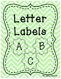 Letter Labels- For Library or Alphabet Wall (Green)