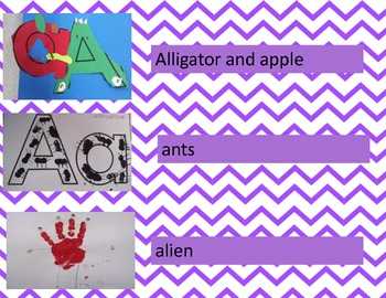 Letter Learning Activities:  Aa