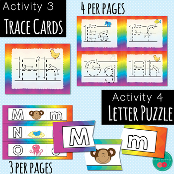 Letter Learning Activities RAINBOW Theme