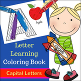 Letter Learning Coloring Book - Capital Letters