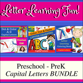 Letter Learning FUN for Preschool - PreK Capital Letters BUNDLE