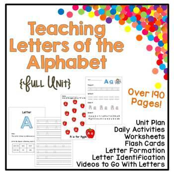 Letter Learning Full Unit - Identification, Writing, Sound - 190+ Pages