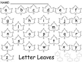 Letter Leaves