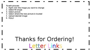 Letter Link Name Tags A-Z