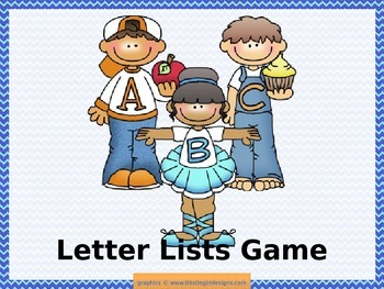 Letter Lists Game