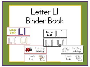 Letter Ll Binder Book