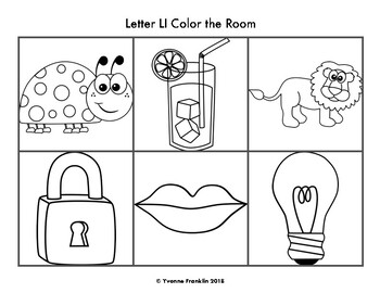 Letter Ll Color, Trace & Write the Room